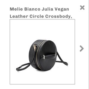 NWT Melie Bianco Julia Vegan Leather Circle Bag
